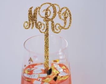 Monogram Swizzle Sticks,Initials Drink Stirrer,Perfect Weddings,Bridal Shower,Engagement Party,Stir Sticks,Monogram Decor,Custom 50 Pk