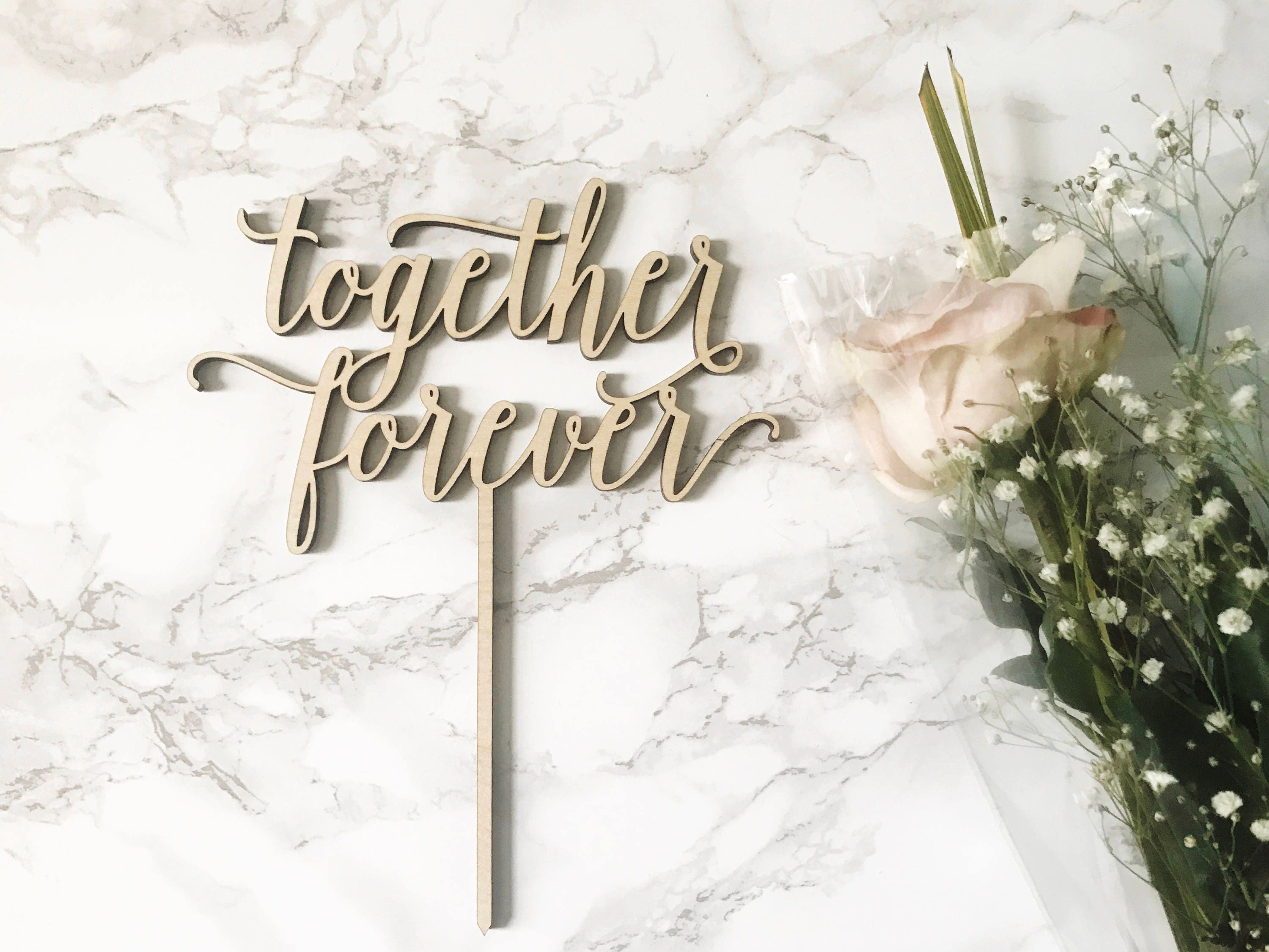 Together Forever Cake Topper, Custom Wedding Cake Topper, Mr and Mrs ...