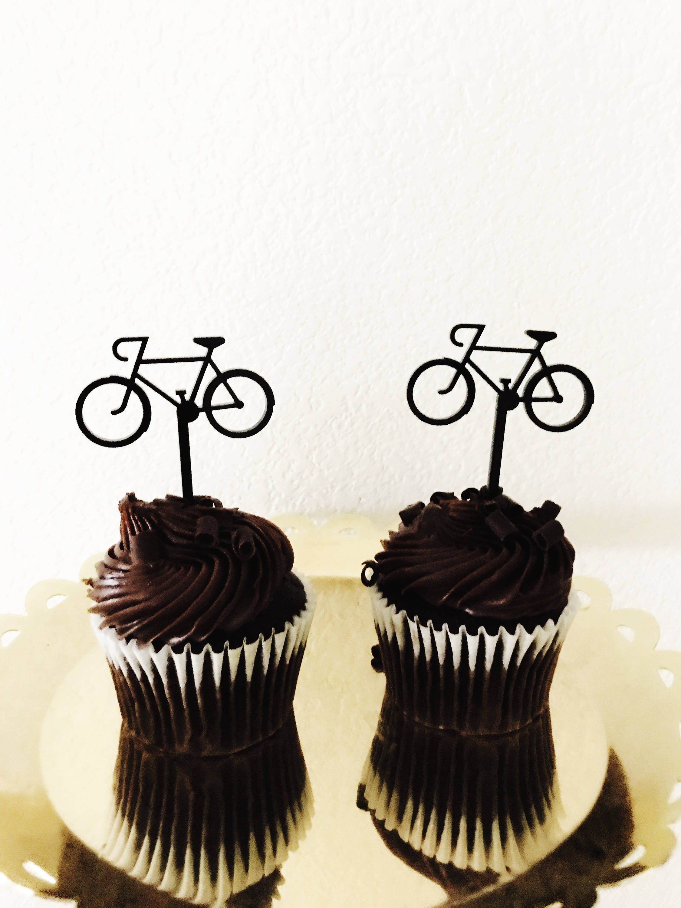 Cycling Cupcake Toppers,Cyclist,Bike,Ride,Sports Party Decor,Cake ...
