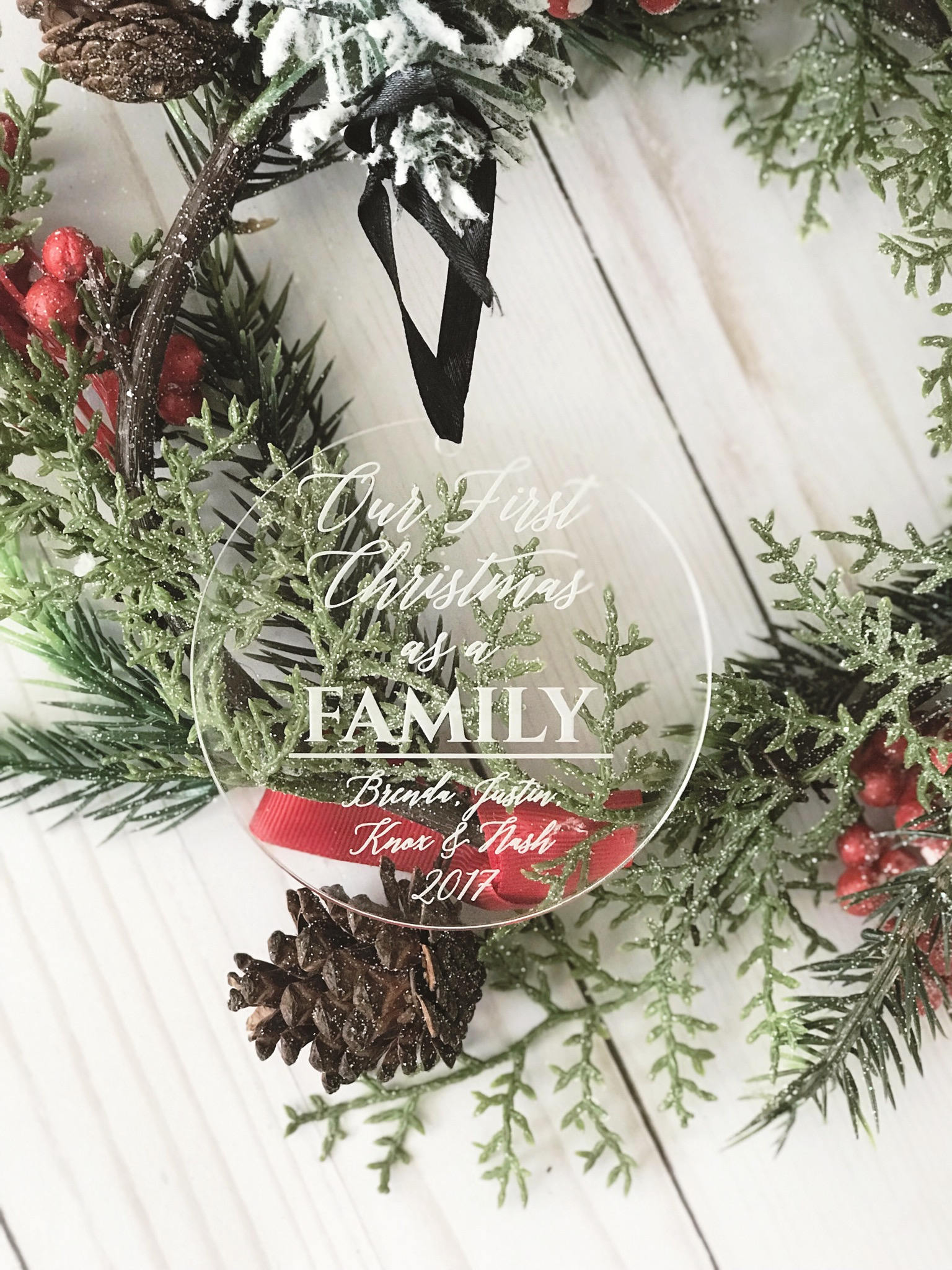 Personalized First Christmas as a Family Ornament - Personalized ...