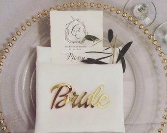 BUNDLE PACK of Acrylic Place Cards,laser cut place cards,Guest Names, place card, Place Settings, calligraphy place cards, name cards,25Pack