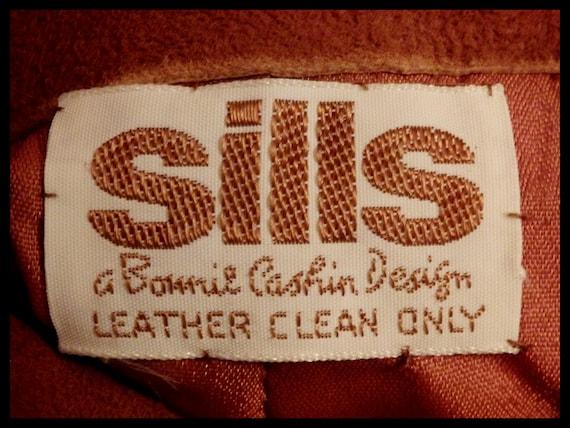 SILLS BONNIE CASHIN Suede Leather Pants~Wide Leg~… - image 10
