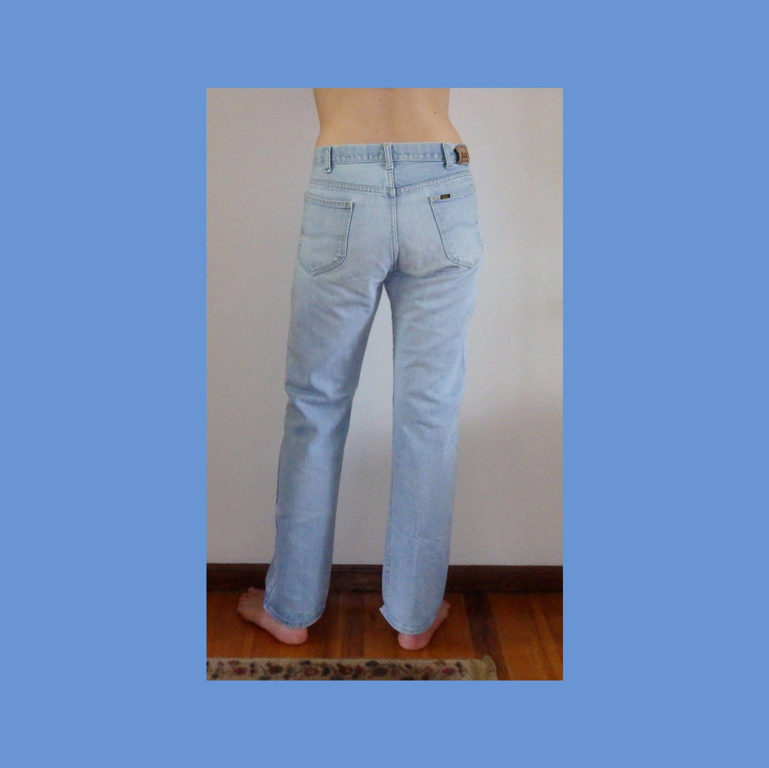 70 s s 70 LEE Jeans ~ Talon Zipper 42 ~ fondu Lt bleu ~ Patch en cuir ~ Vintage ~ Grunge ~ Festival ~ détresse ~ copain ~ Union fabriquée aux USA ~ vrai 32 x 31 ~ unisexe 156eaa