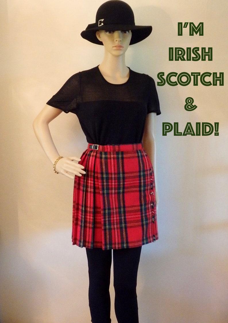 bac2d1465 O'Neil Dublin Wool Blend Tartan Mini Kilt | Etsy