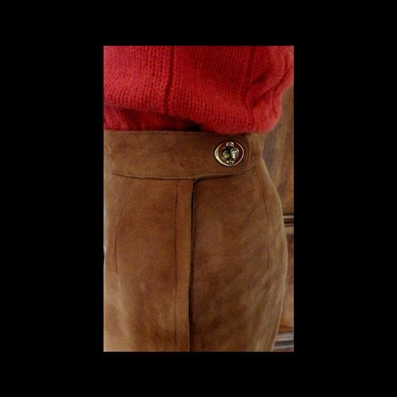 SILLS BONNIE CASHIN Suede Leather Pants~Wide Leg~… - image 3