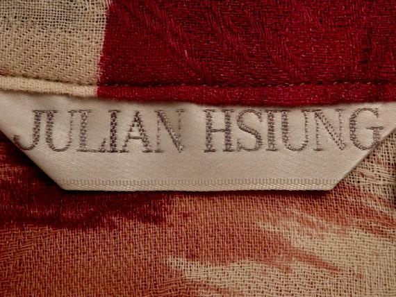 1980s Julian Hsiung Southwestern Ikat Statement S… - image 9