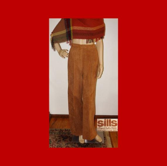 SILLS BONNIE CASHIN Suede Leather Pants~Wide Leg~… - image 1