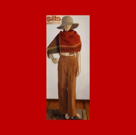 SILLS BONNIE CASHIN Suede Leather Pants~Wide Leg~… - image 2