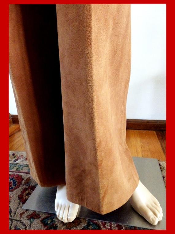 SILLS BONNIE CASHIN Suede Leather Pants~Wide Leg~… - image 9