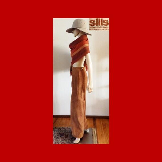 SILLS BONNIE CASHIN Suede Leather Pants~Wide Leg~… - image 4