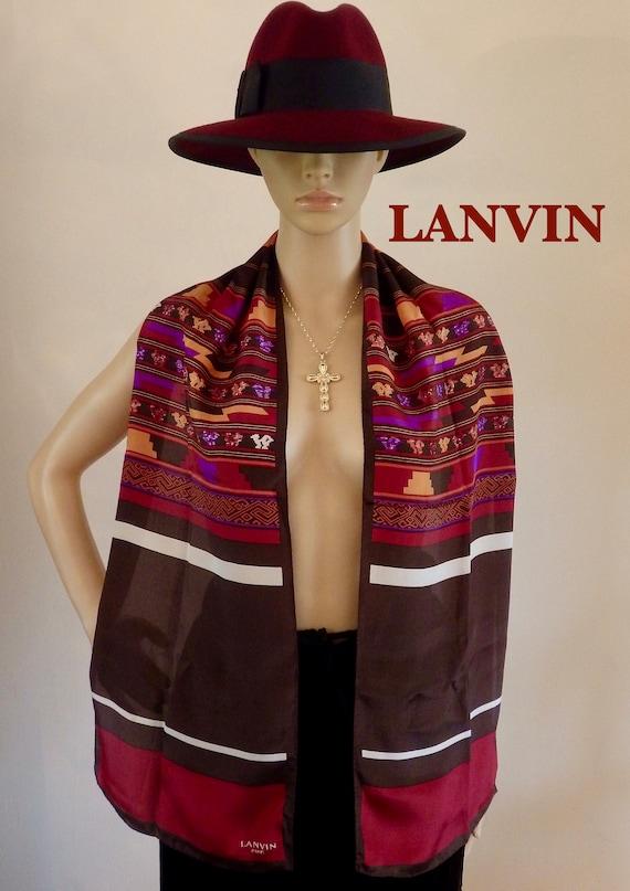 4f2f544475fa LANVIN Paris Silk Mexican Southwestern 62 Long