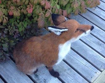 Needle Felted Fox Made to Order
