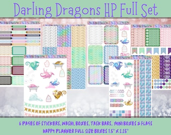 Planner Stickers - Darling Dragons