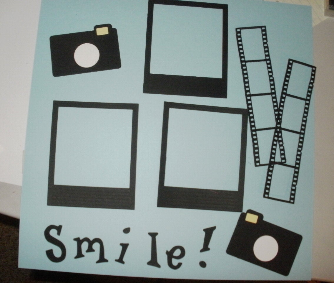Scrapbook /& Card Making 4 Smile Frames Premade PAPER Die Cuts