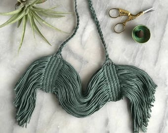 Neoma Necklace//Fiber Jewelry//Woven