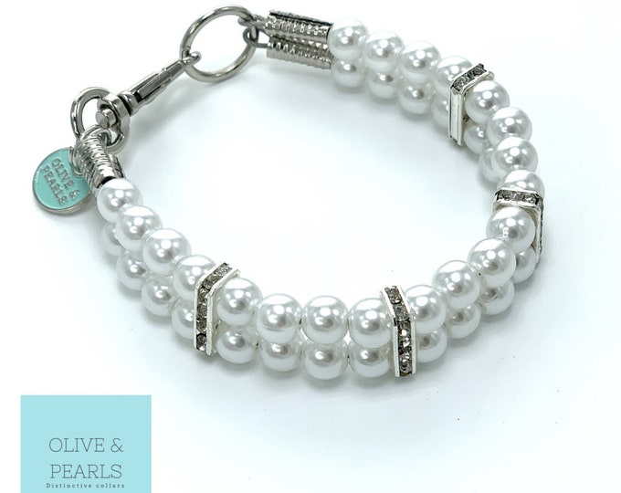 "The ""Poppy"" Pearl Dog Collar"