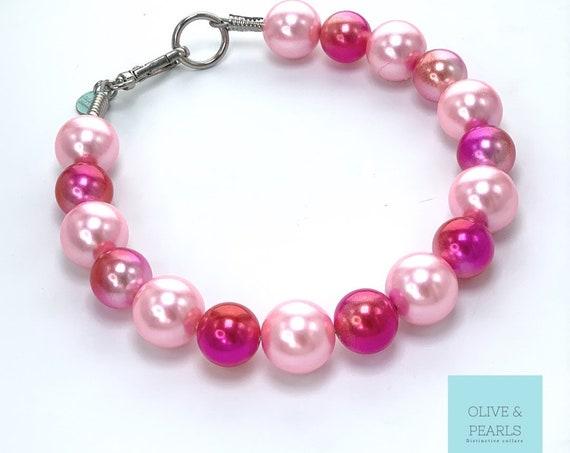 "The ""Sweetheart"" Pearl Dog Collar, Valentine's Day Dog Collar"