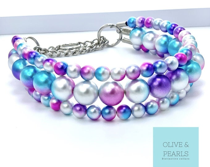 "The ""Ariel"" Pearl Dog Collar"