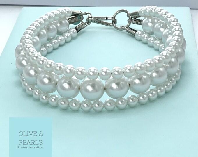 "The ""Donatella"" Pearl Dog Collar"