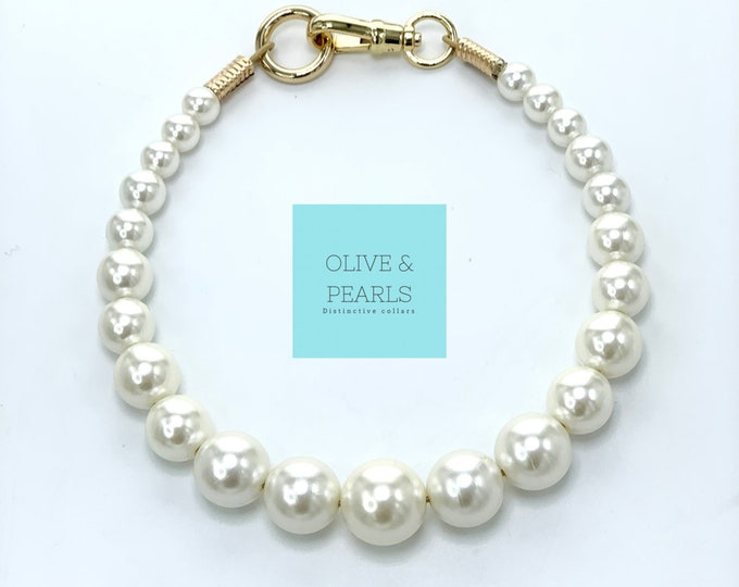 "The ""Mini Phoebs"" Pearl Dog Collar"