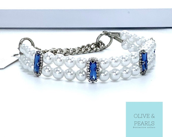 "The ""Miranda"" Pearl Dog Collar"