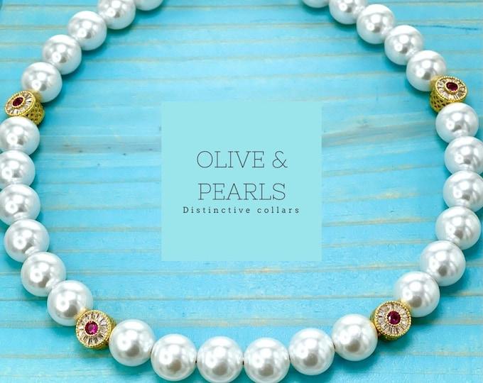 """The """"Elizabeth"""" Pearl Dog Collar"""