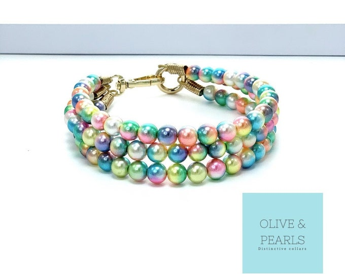 "The ""Ansley"" Pearl Dog Collar"