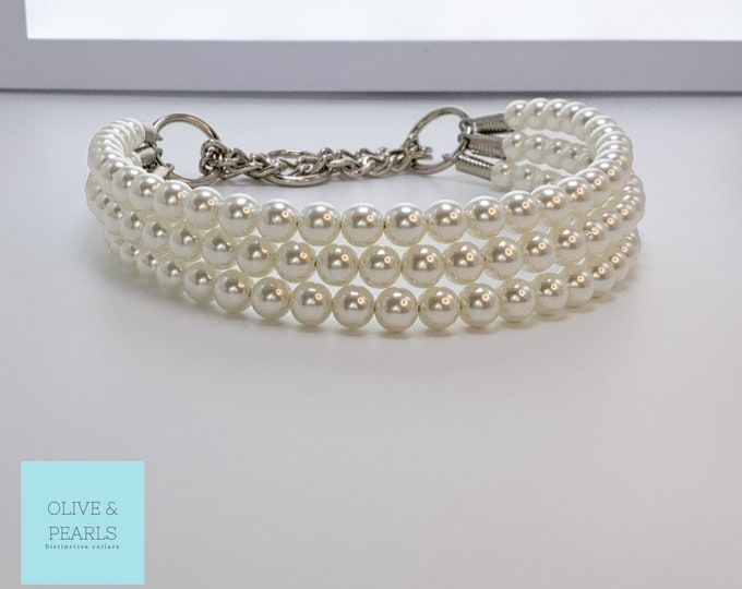 "The ""Hailey"" Pearl Dog Collar"
