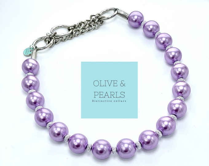 "The ""Octavia"" Pearl Dog Collar"