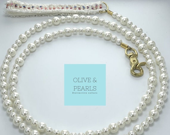 "The ""Chanel"" Pearl Dog Lead"