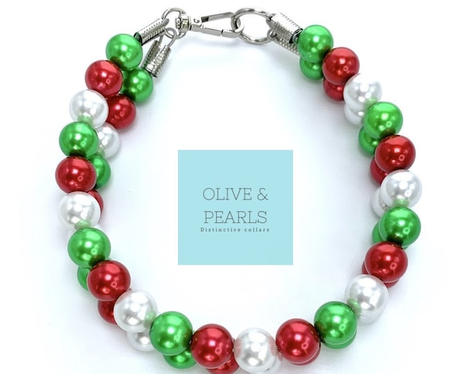 "The ""Joy"" Pearl Bead Dog Collar"