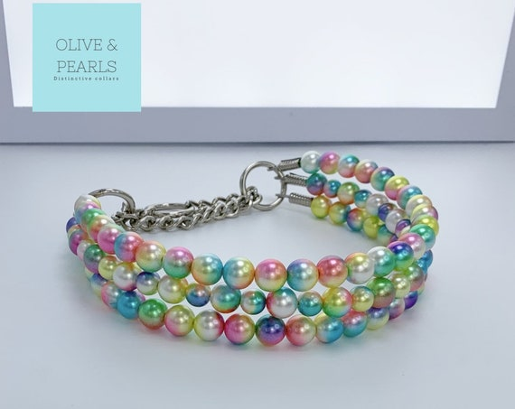 """The """"Ansley"""" Pearl Dog Collar"""