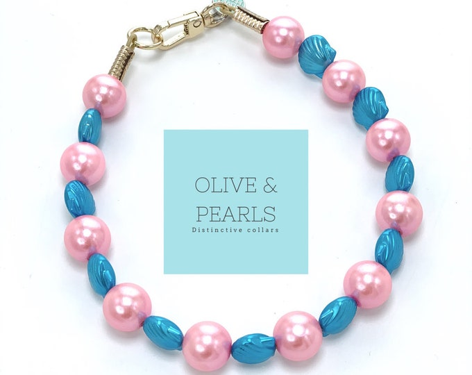 "The ""Siren"" Pearl Dog Collar"