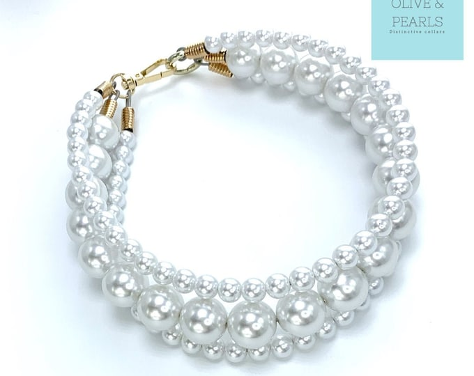 "The ""Donatella"" Pearl Dog Collar"