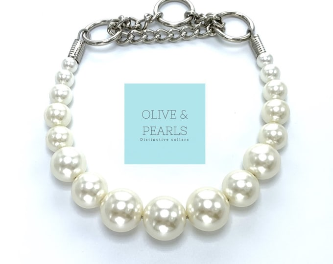 "The ""Phoebe"" Pearl Dog Collar"