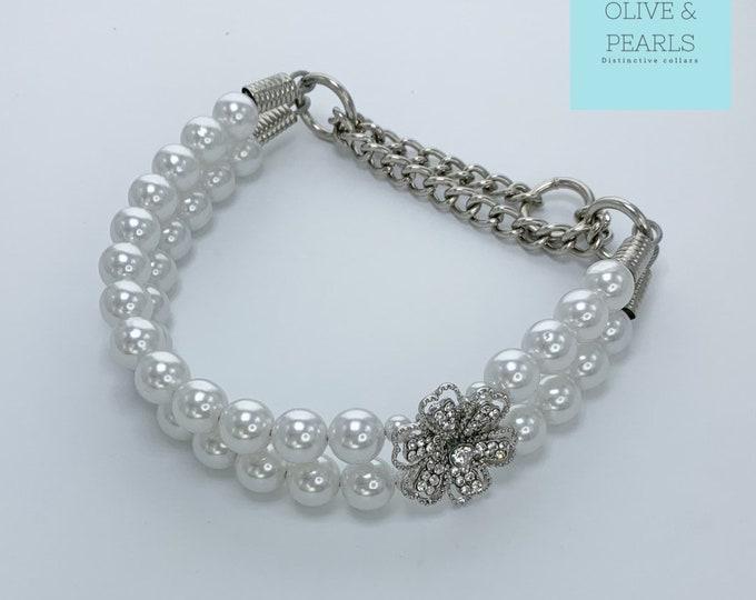 """The """"Quinn"""" Pearl Dog Collar"""
