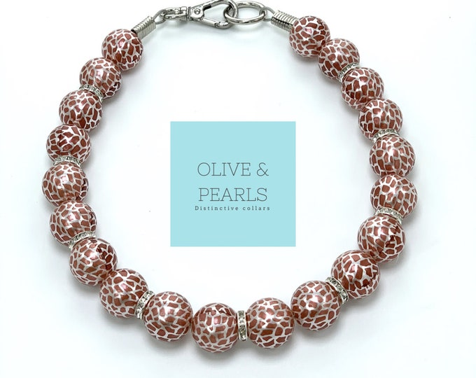 "The ""Gina"" Pearl Dog Collar"