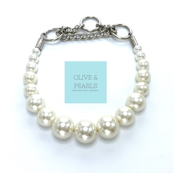 "The ""Phoebe"" Pearl Dog Collar"