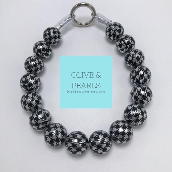 "The ""Willow"" Pearl Bead Dog Collar, Beaded Dog Collar, Pearl Dog Collar, Pearl Collar, Dog Pearls"