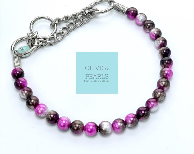 """The """"Lucy"""" Pearl Beaded Dog Collar"""