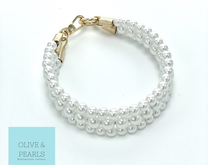 """The """"Little Dena"""" Pearl Dog Collar"""