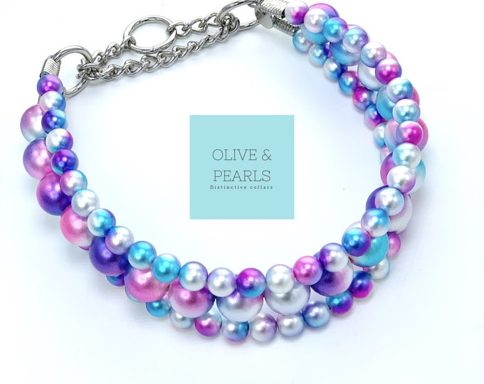 "The ""Ariel"" Pearl Dog Collar"