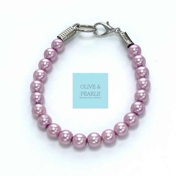 """The """"Mignon"""" Pearl Dog Collar, Dog Pearls, Jeweled Dog Collar, Pearl Dog Necklace"""