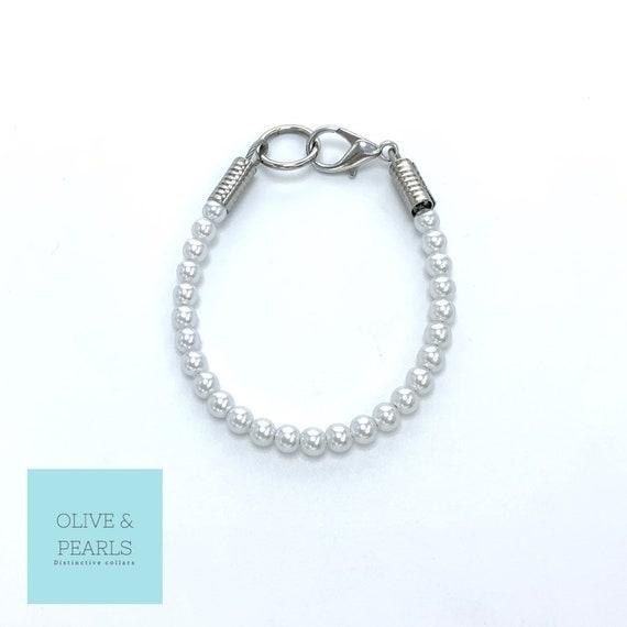 "The ""Itsy"" Pearl Dog Collar, Small Dog Collar, Dog Pearls, Jeweled Dog Collar"