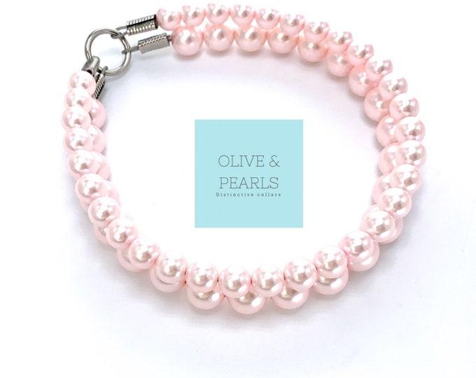 """The """"Priscilla"""" Pearl Bead Dog Collar"""