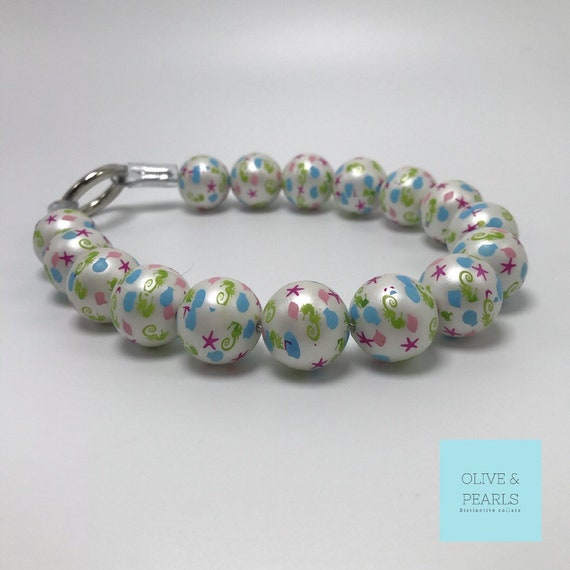 "The ""Brynn"" Pearl Dog Collar, Beaded Dog Collar, Big Dog Pearl Collar, Dog Pearls"