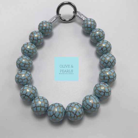 "The ""Charlotte"" Pearl Dog Collar, Beaded Dog Collar, Dog Pearls, Big Dog Pearl Collar, Pearl Collar"