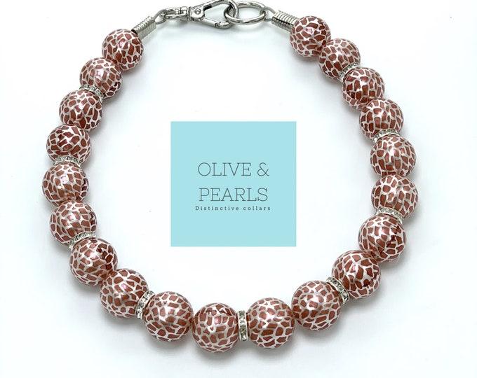 """The """"Gina"""" Pearl Dog Collar"""
