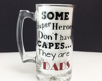 Customizeable Beer Mug - Perfect for Fathers Day - Includes Quote and Name