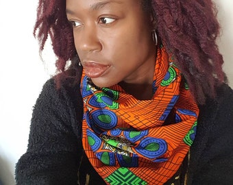 Unisex Infinity Scarf, adult scarf, kids scarf, autumn scarf, African Print scarf, men's scarf, ladies scarf, women's scarf, winter scarf